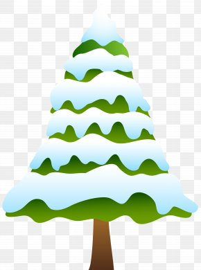 Snowy Pine Tree Clip Art Image - Snow Pine Tree Clip Art PNG
