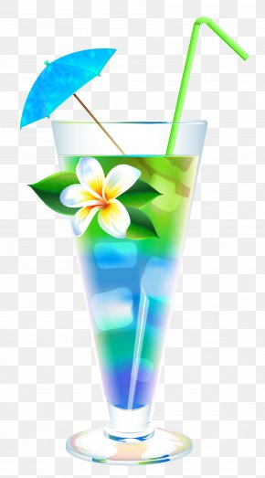 Exotic Summer Cocktail Clipart Image - Cocktail Cosmopolitan Martini Blue Lagoon Tequila Sunrise PNG