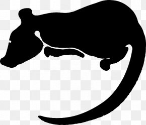 Animal Silhouettes - Laboratory Rat Chinese Zodiac Rodent Clip Art PNG