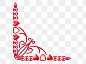 Valentine Corner Cliparts - Valentines Day Heart Clip Art PNG