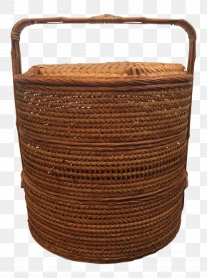 The Ear With A Bamboo Basket - The Longaberger Company Wicker Basket Rattan Antique PNG