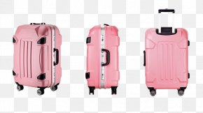 Pink Suitcase, Image - Hand Luggage Suitcase Baggage Travel PNG