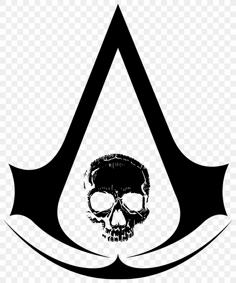 Assassin's Creed IV: Black Flag, PNG, 2500x2988px, Assassins, Abstergo Industries, Black And White, Bone, Brand Download Free