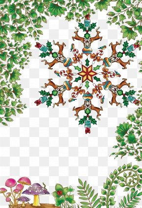Vector Christmas Tree Leaves Snowflakes - Christmas Tree Christmas Ornament Snowflake PNG