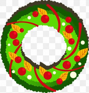 Christmas Wreath - Christmas Decoration Candy Cane Garland PNG