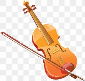 Violin And Bow - Violin Musical Instrument Icon PNG