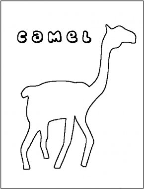 Camel Pictures To Print - Dromedary Bactrian Camel Giraffe Coloring Book Clip Art PNG
