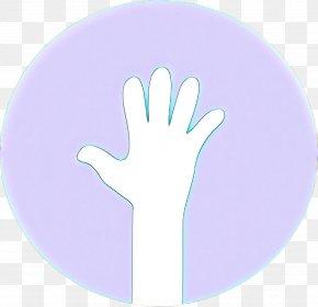 Thumb Gesture - Hand Finger Violet Purple Glove PNG