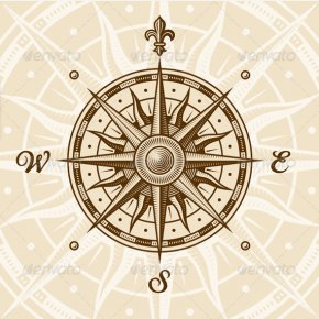 Vintage Travel Cliparts - Compass Rose Stock Photography Clip Art PNG