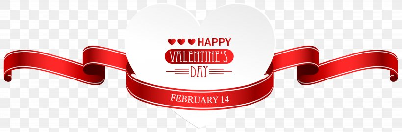 Heart Valentine's Day Clip Art, PNG, 8000x2631px, Valentine S Day, Brand, Heart, Logo, Love Download Free
