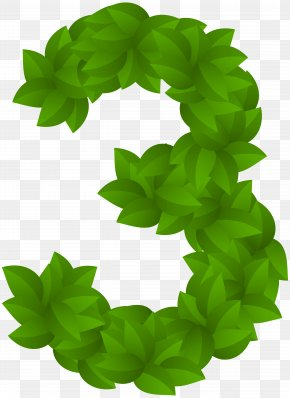 Leaf Number Three Green PNG Clip Art Image - Sharon