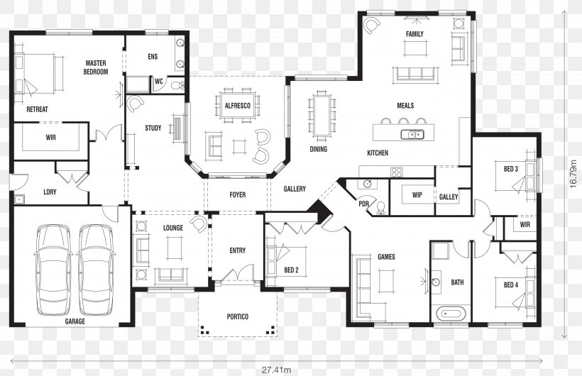 House Plan Floor Plan Ranch-style House