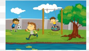 Children Playing In The Park Clip Art - Clip Art Vector Graphics Royalty-free Illustration Image PNG
