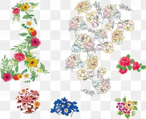 Floral Collection Vector Material - Floral Design Flower Euclidean Vector PNG