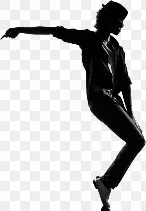 Michael Jackson - Black And White Silhouette Human Behavior Art Length PNG