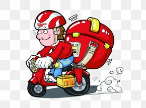 Motorcycle Vector - Courier Delivery Express Mail PNG