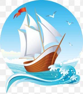 Sailing Ship - Sailing Ship Euclidean Vector Clip Art PNG