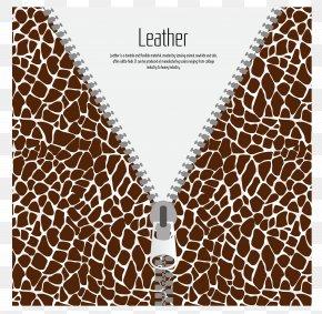 Features Leopard Clothing Zipper - Giraffe Persian Leopard Clothing Zipper PNG