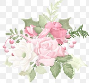 Flower - Cabbage Rose Flower Bouquet Christmas Day Garden Roses PNG