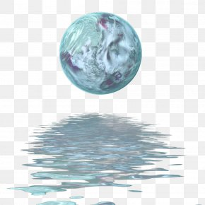Planet Water Reflection - Earth Sticker Planet PicsArt Photo Studio PNG