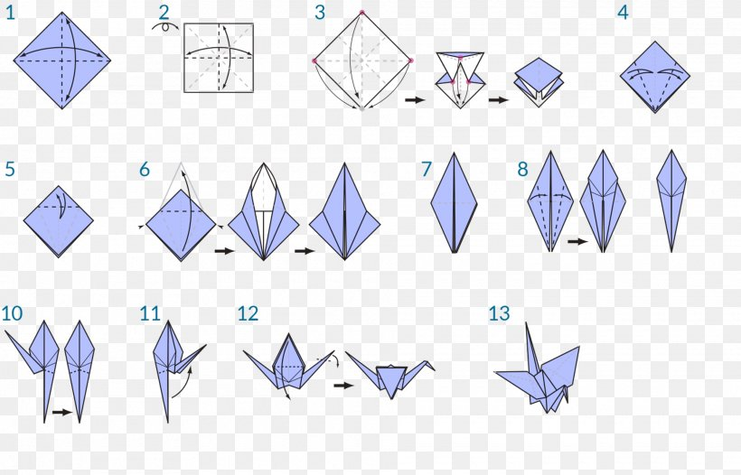 How to fold an origami crane. A fun activity for kids. illustrated ...   526x820