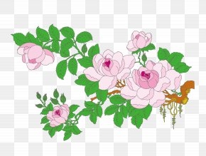 Vector Flower - Gongbi Bird-and-flower Painting Ink Wash Painting PNG