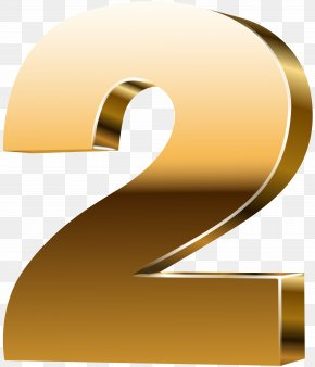 Number Two 3D Gold Clip Art Image - Number 3D Computer Graphics Clip Art PNG