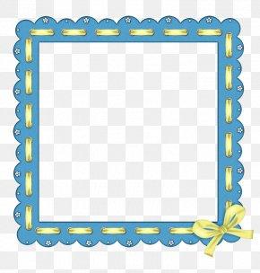 Blue Frame - Picture Frame Ornament Clip Art PNG