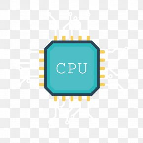 Vector CPU Core Chips - Central Processing Unit Solid-state Drive Download Data Computer File PNG