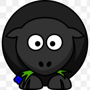 Cartoon Black Sheep - Black Sheep Clip Art PNG