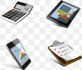Office Supplies A Family Of Four Vector - Calculator PNG