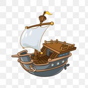 Explorer Ship Cartoon - Technical Illustration Illustrator Infographic Caravel PNG