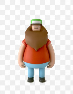 Red Long Beard Uncle - Designer Toy Action Figure PNG