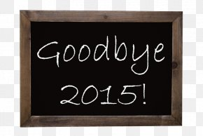 Blackboard Word Goodbye - Stock Photography Illustration PNG