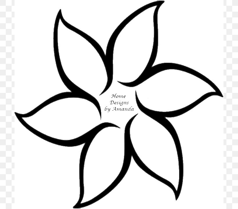 Flower Outline Drawing Clip Art, PNG, 720x720px, Flower