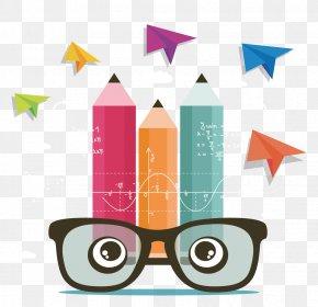 Cartoon Creative Eye Pencil - Graphic Designer Logo Designers On Design PNG