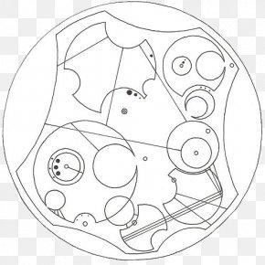Gallifreyan - /m/02csf Line Art Drawing Circle Cartoon PNG