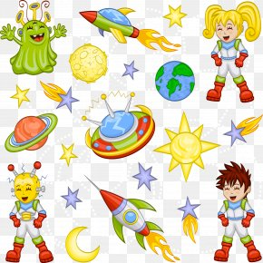 Vector Space - Cartoon Space Illustration PNG