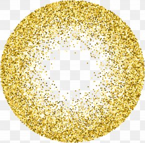 Gold Sequins - Gold Glitter Stock Photography Circle PNG