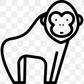 Gorilla Vector - Gorilla Ape Clip Art PNG