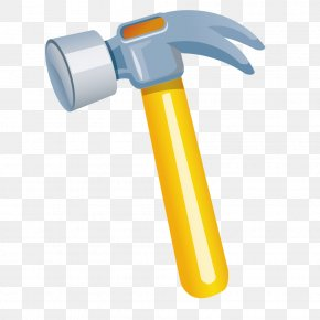 Yellow Hammer Vector Material - Hammer Hand Tool Illustration PNG