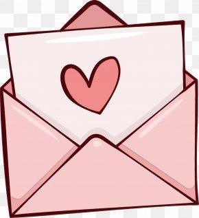 Love Heart - Pink Heart Line Love PNG