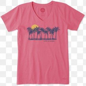 Beach Sunset - T-shirt Hoodie Sleeve Top Crew Neck PNG