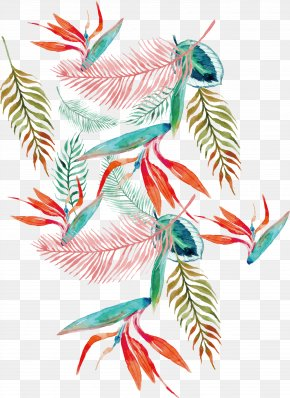 Watercolor Summer Pattern - Illustration PNG