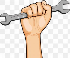 Power Wrench - Thumb Cartoon Labor Day PNG