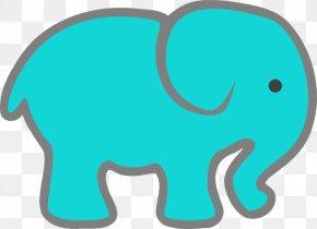 Elephant Clip Art - Indian Elephant Turquoise Elephantidae Clip Art PNG