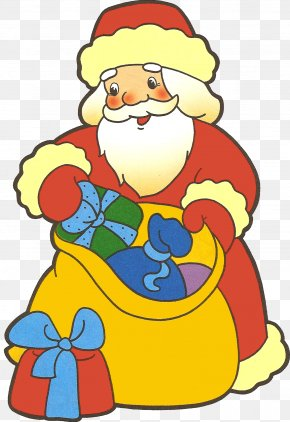 Gift - Ded Moroz Snegurochka New Year Gift Grandfather PNG