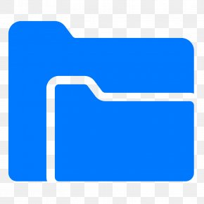 Folders - Electric Blue Logo Cobalt Blue Aqua PNG