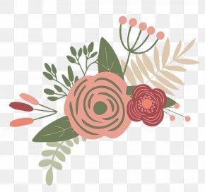 Peach Flowers - Flower Garden Roses Floral Design Clip Art PNG