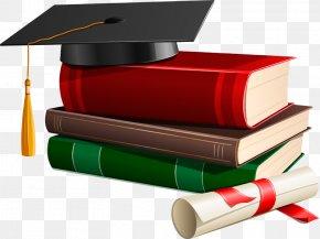 Books - Graduation Ceremony Square Academic Cap Bachelors Degree Clip Art PNG